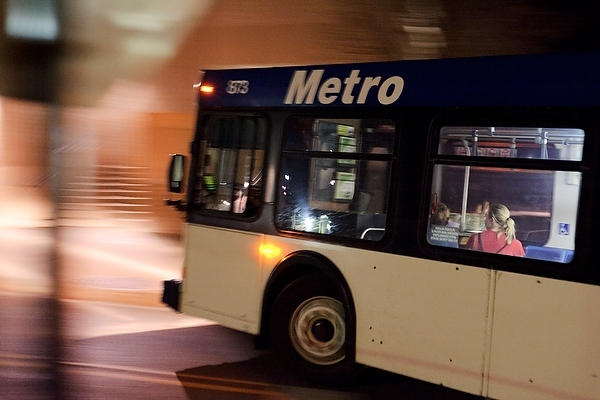 Madison metro buses returning to bascom hill a madison metro bus blurs by while traveling route 80 along park street near the memorial union in 2012 sciox Gallery