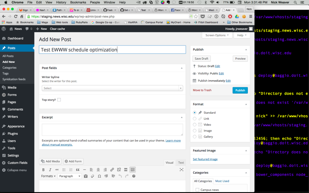 Test screen shot for EWWW optimization
