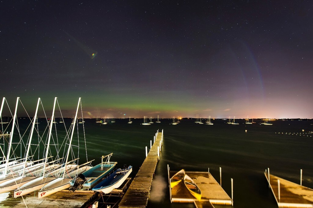 Aurora Borealis over Lake Mendota