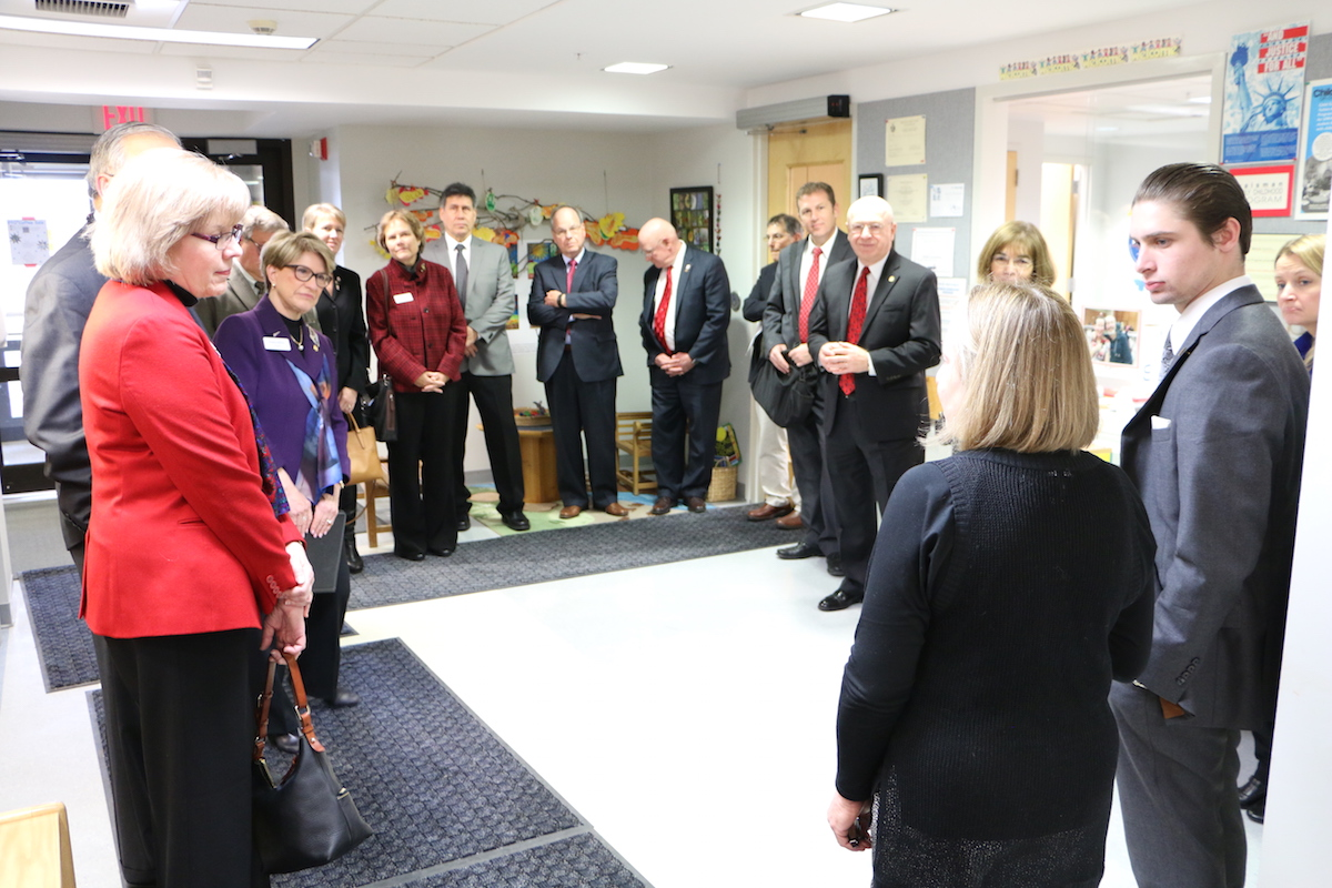 UW System officials and members of the Board of Regents tour the Waisman Early Childhood Program.