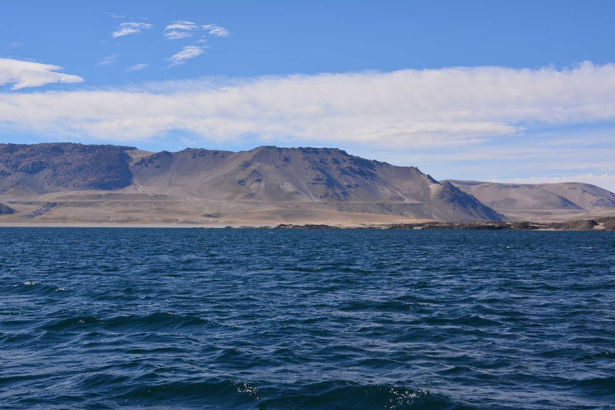 The shoreline at Laguna del Maule in Chile was horizontal about 10,000 years ago. Now, the south end of the lake is 220 feet higher than the north, indicating a long-term uplift probably caused by the intrusion of magma under the lake.