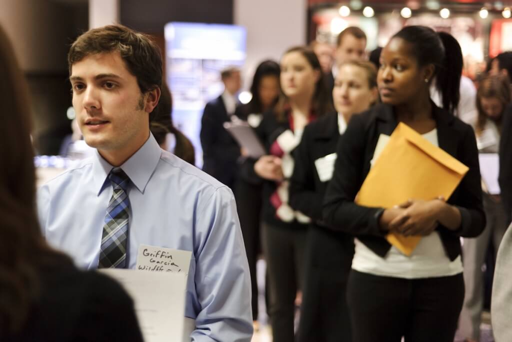 Students participate in a career and Internship Fair at the Kohl Center in 2012. A new grant from Great Lakes Higher Education Guaranty Corp. is anticipated to support 205 new paid internships during the 2015-18 for first-generation, low-income and multicultural, underrepresented students.