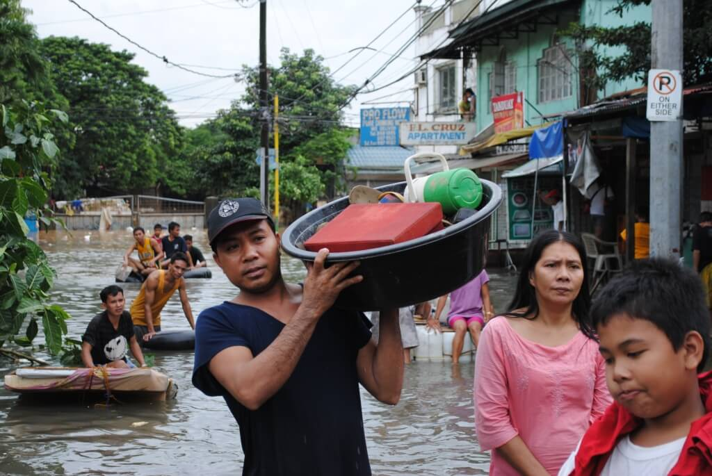 The Philippines is one of many densely-populated nations in and around Southeast Asia that are endangered by rising sea levels caused by global warming. Global average sea level is rising 3.1 centimeters per decade.