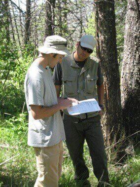 Brian Harvey, former graduate student in Zoology Professor Monica Turner's laboratory at UW–Madison (right), and Daniel Donato from the Washington State Department of Natural Resources, conducting field studies in Greater Yellowstone National Park.