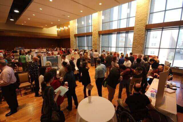 Showcase, shown here in 2015, is an opportunity to learn about initiatives and projects that have been successfully implemented across the UW–Madison campus and explore the details with the individuals who made them happen.