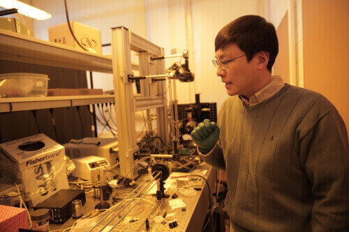 UW–Madison engineering Professor Hongrui Jiang describes the fabrication process for an artificial eye that makes better use of very dim light than any other optical sensor.