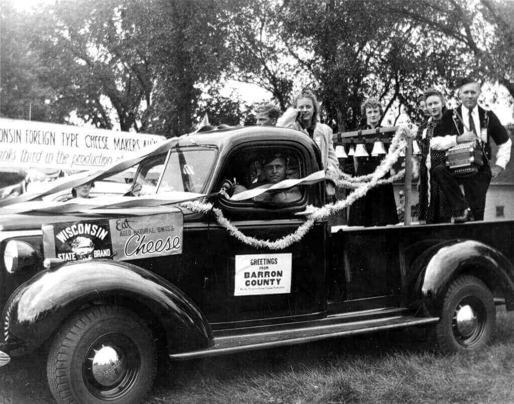 Otto Rindlisbacher at the wheel, with Iva Rindlisbacher and other members of the Lumberjacks, c. 1930s. Rindlisbacher and his fellow musicians are among those forgotten voices of Wisconsin's cultural heritage to be digitally preserved and accessible.