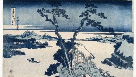 Graphic: Woodblock print of Lake Suwa
