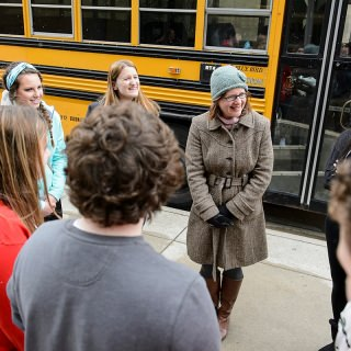 "Wendy Johnson, assistant director of the Language Institute (wearing hat), is the recipient of the 2016 Robert and Carroll Heideman Award for Excellence in Public Service and Outreach. The programs she coordinates help expand the worldviews of Wisconsin K-12 students, particularly in smaller school districts, who face increasingly limited opportunities to learn foreign languages in their home high schools.  Johnson's creativity helps teachers get the most out of these programs.  Implementing videoconferencing technology, for example, promotes one-on-one interaction despite issues of distance and scheduling. Through the High School Tutoring Program in Less Commonly Taught Languages, students across the state get support for their study of languages such as Arabic and Japanese, which are critical to an increasingly global society.  In the process, Johnson has also encouraged UW-Madison student participants, going beyond conversational practice to ""leadership, mentoring, inspiration and positive influence,"" according to one local teacher. These programs have become national models for other universities, further solidifying UW-Madison's reputation as a leader in foreign language education and research."
