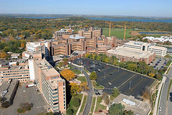 Photo: Aerial photo of UW Hospital