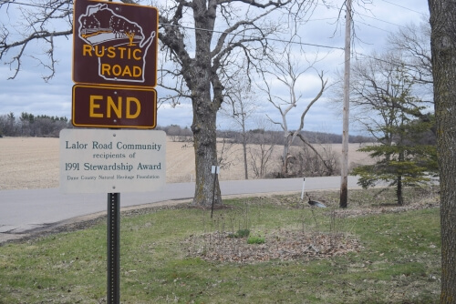 Photo: Award sign near wetland