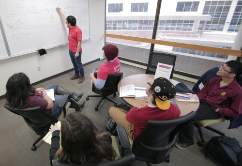 Photo: Students in flipped classroom