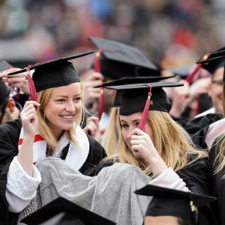 Graduates move their tassels from right to left as they pass from student to graduate.
