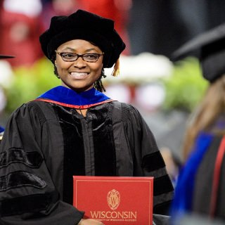 About 900 doctoral, master and professional students attended Friday's ceremony.