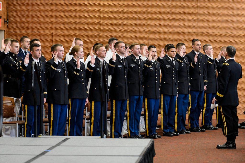 Photo: ROTC students taking oath