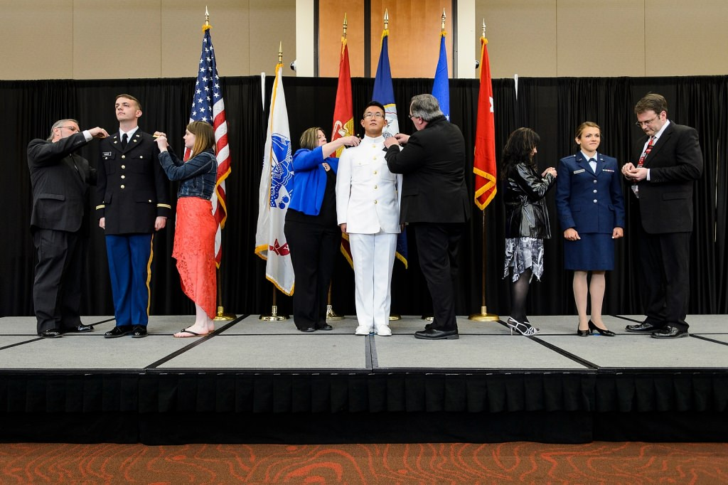 Photo: ROTC students at commissioning ceremony