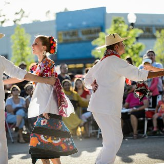 Members of DanzTrad perform a traditional Mexican folklore dance.