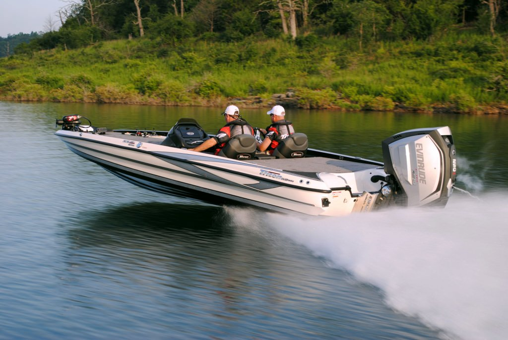 Photo: Bass boat with Evinrude motor