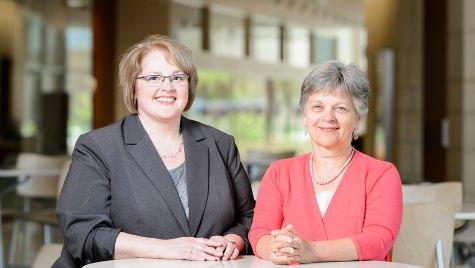 Kristine Kwekkeboom (left), professor of nursing, and Karen Solheim, clinical professor of nursing, have been selected as fellows by the American Academy of Nursing.