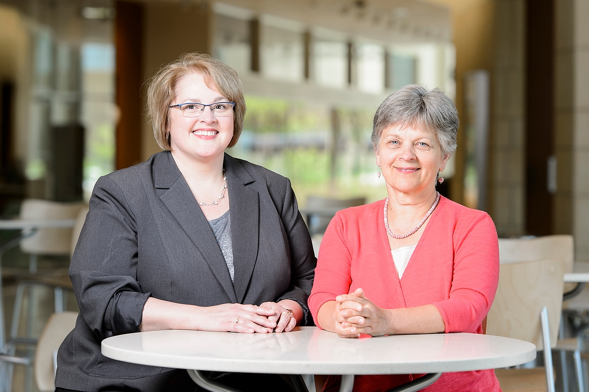 Kristine Kwekkeboom (left), professor of nursing, and Karen Solheim, clinical professor of nursing, have been selected as fellows by the American Academy of Nursing.