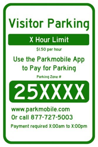 Illustration: Sample Parkmobile sign