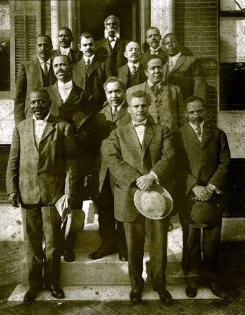 Photo: William McCard in group of African-American men