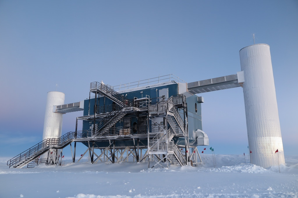 Photo: The IceCube Laboratory at the Amundsen-Scott South Pole Station, in Antarctica