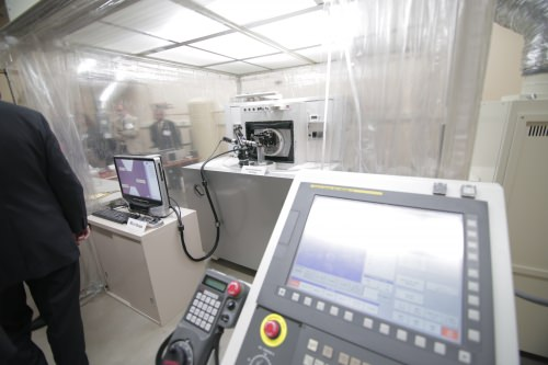 The ROBONANO, which is on a multi-year loan from the Japanese robotics manufacturer FANUC, is housed in Sangkee Min's laboratory at UW–Madison. The ROBONANO's ability to cut at the nanoscale is two orders of magnitude more precise than most machines used in advanced manufacturing today.