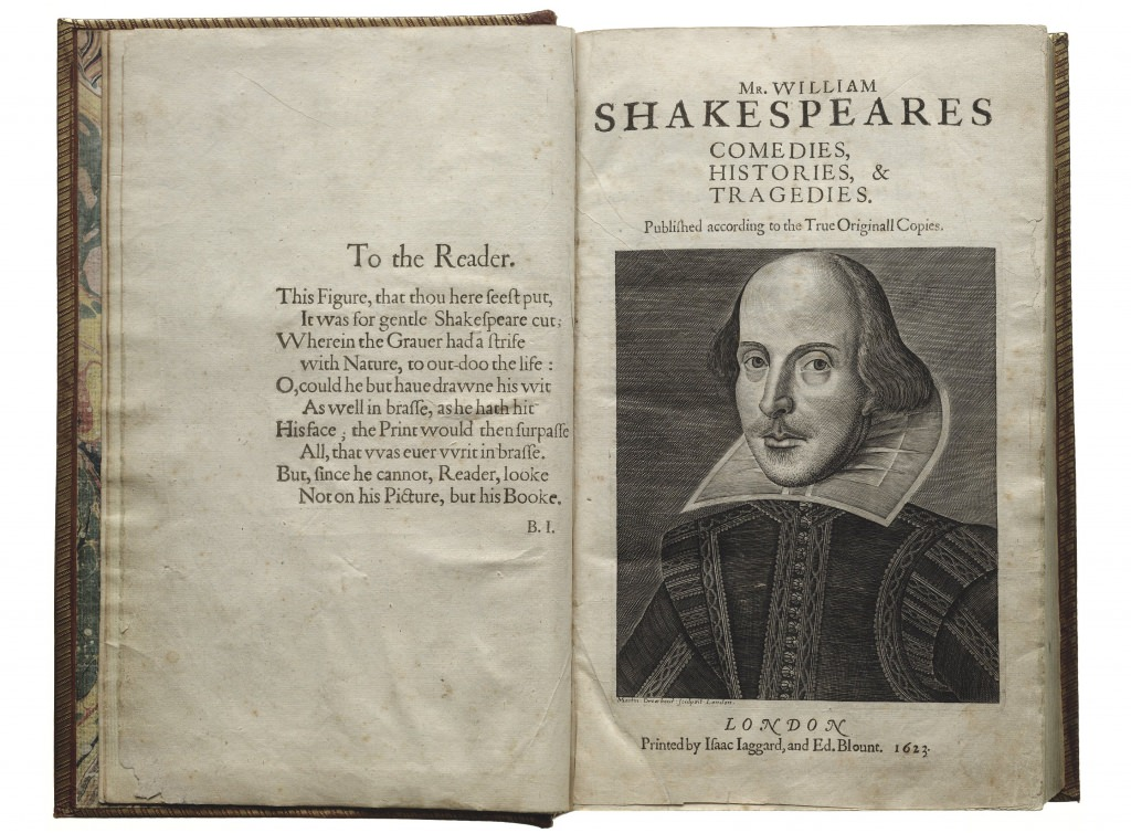 Photo: First page of First Folio