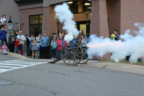 The Bayfield School Science Festival starts with a bang as cannon owner Duane Dehn, a Bayfield resident, helps the community celebrate curiosity, creativity and the explosive power of sudden oxidation.