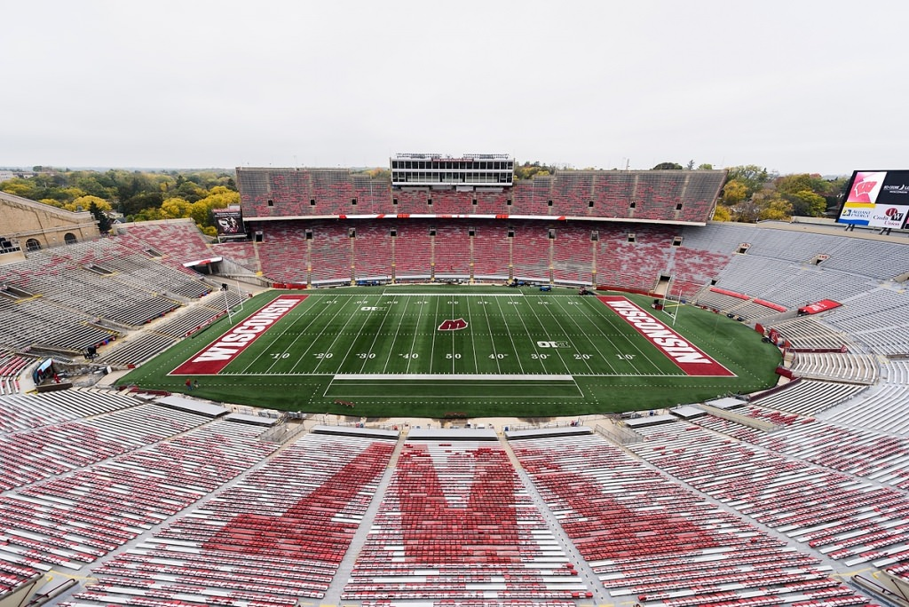 Camp Randall awaits the crowd.