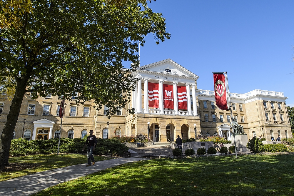 Bascom Hall as it appears today.