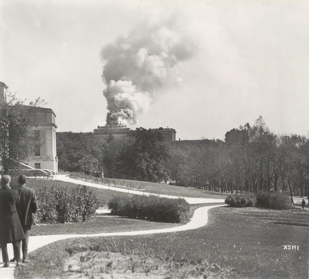 The Bascom Hall fire was visible for miles throughout Madison.