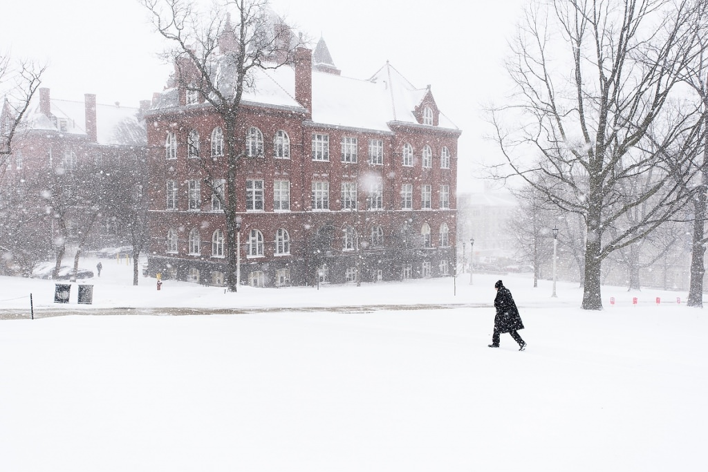 Photo: Science Hall in the snow