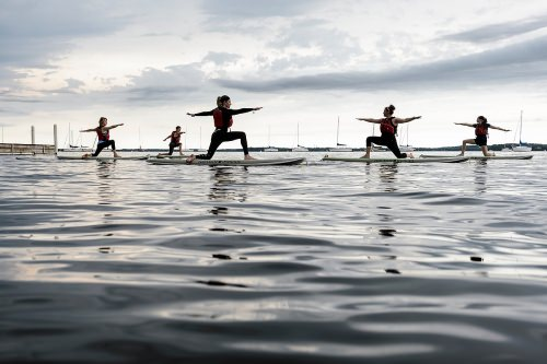 Photo: Yoga participants on paddleboards