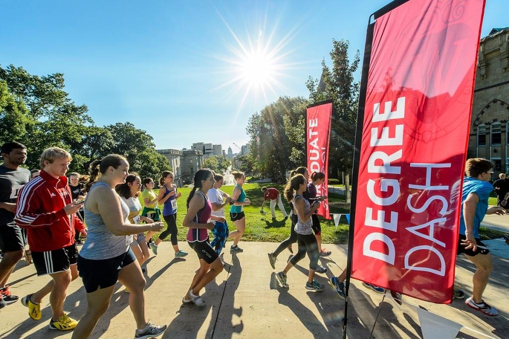 Photo: Runners in Degree Dash
