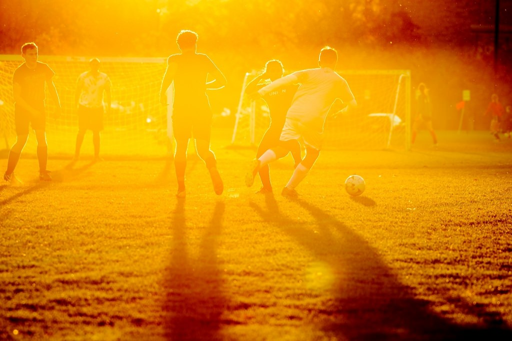 Photo: Students playing soccer