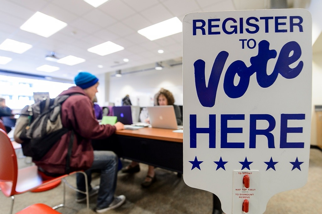 Photo: Voter registration table