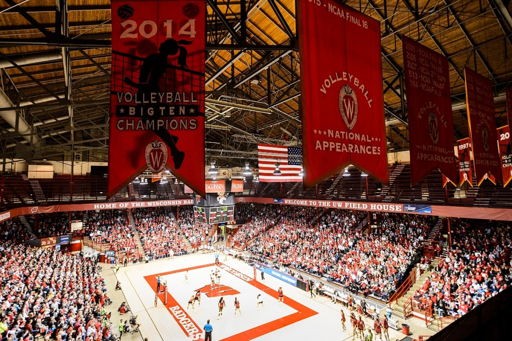 Photo: Badger volleyball game