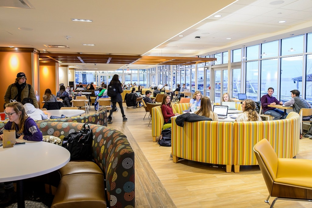 Photo: Students studying in remodeled Memorial Union