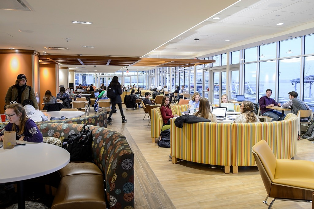 Photo: Portions of the first floor have been converted into expansive study spaces.