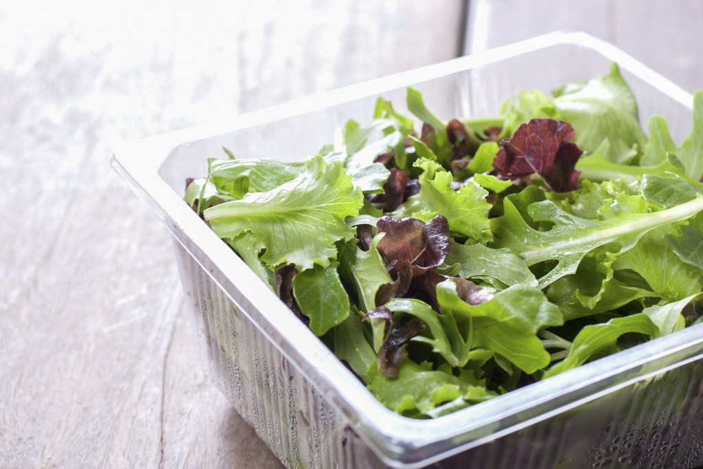 Photo: Salad in plastic container