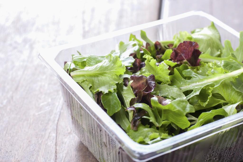 Photo: Salad in plastic container
