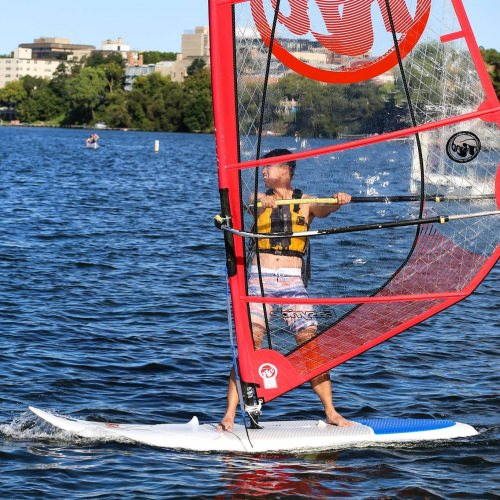Terrence Thurk enjoyed being involved in Hoofer Sailing Club, including wind-surfing on Lake Monona.