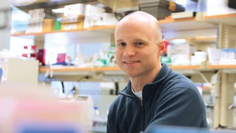 Photo of Bill Murphy in his lab.