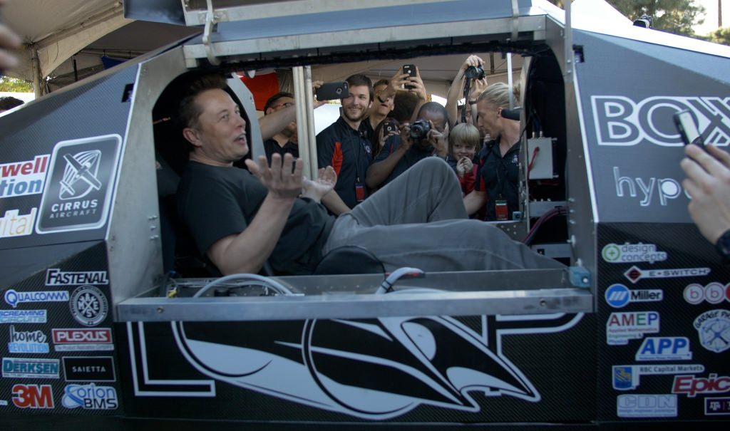 SpaceX and Tesla Motors co-founder Elon Musk, who is the driving force behind the Hyperloop competition, took the opportunity to sit in the Badgerloop pod while touring the various team's booths. The team purposefully built its pod to fit Musk, who is 6 feet 2 inches tall.