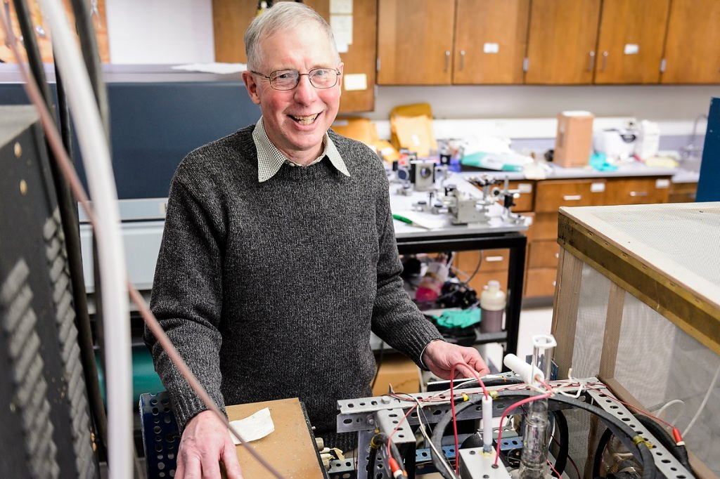 Photo: James Lawler in his lab
