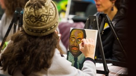 Sarah Carroll paints a picture of Martin Luther King, Jr.