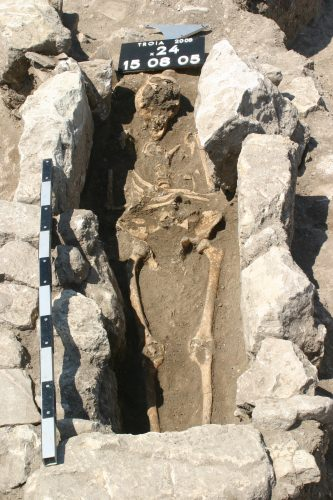 Photo: The skeleton of a woman who died 800 years ago on the outskirts of the ancient city of Troy in modern Turkey