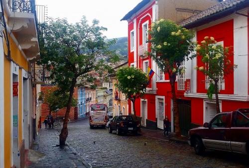 The streets in the village of Tabuga, Ecuador.
